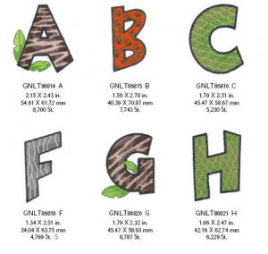 Great Notions 1578 Wild Alphabet Embroidery Designs Multi-Formatted CD