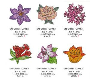 Great Notions 1579 Mini Floral Embroidery Designs Multi-Formatted CD