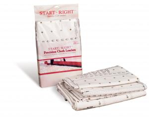 "Grace, Start Right, Precision, 3 of 112"" Grided, Cloth Leaders, with Velcro for Loading Fabric Layers, onto Machine Quilting Frame, Rails, Saves Time"