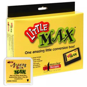 Amazing Designs, Little Max, Embroidery, Conversion Box, Blank, Rewritable, Memory, embroidery Design, Card