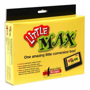 Amazing Designs, Little Max, Embroidery Conversion Box, With NO BLANK Card, Converts* to Brother .pes, & Viking .hus,  FREE 3700CD, Format, & Color Software