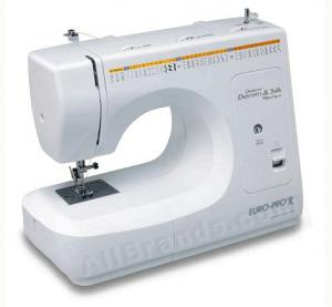 Euro Pro 7545 35-Stitch Function Art Sewing Machine Solid Metal Construction & Metal Gears & 10 Feet