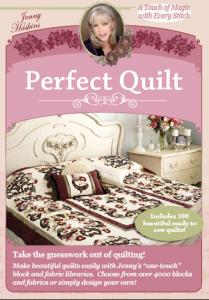 Jenny Haskins, Perfect Quilt, Software, Selects, 9 Styles, 1200 Blocks, 120 Borders, 5 Sizes, Colors, Ruler, Yards, Fabrics, Scan, Rotate, Customize, Label, Photo, Print