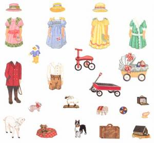 Husqvarna Viking 121 Dolls and Clothes 3 by Martha Pullen Embroidery Disk