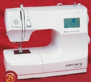Euro Pro 9025 LCD 50 Stitch Function Sewing Machine with 12 Feet & Hard Case Floor Model