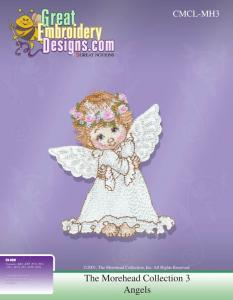 Great Notions 111595 The Morehead Collection 3 Holly Babes Angel Multi-Formatted CD Embroidery Designs