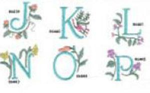 Great Notions 1300 Floral Alphabet Collection III Multi-Formatted CD