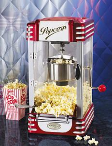 "Nostalgia Electrics RKP-630 Old Fashioned Retro Series Kettle Popcorn Maker 19x10x12"", Pops up to 1 Gallon, Stainless Steel, Built In Stirring, RKP630"