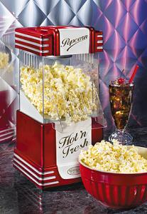 Nostalgia Electrics Retro Series™ RHP 625 Hot Air Popcorn Maker in Minutes RHP625, Uses Hot Air instead of Oil, Load 3 1/2 Oz Kernals in Cup per Batch