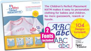 PPKC0010 Childrens Perfect Placement Kit 16 Templates +30 Stickers +104 Designs