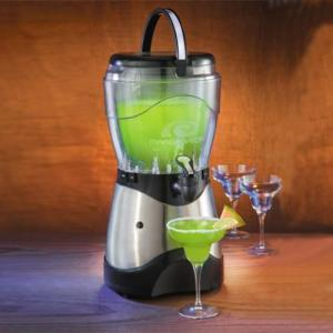 Nostalgia Electrics, HSB-590, Margarator, Margarita, & Frozen Drink Machine, Stainless Steel, See Thru Lid & Jar, 1 Gallon , Ice Margarita Mix & Tequila