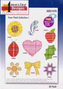 Amazing Designs ADC1375 Faux Plaid Collection I Multi-Formatted CD