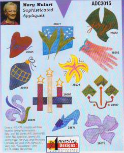 Amazing Designs Mary Mulari Sophisticated Appliques Multi-Formatted CD