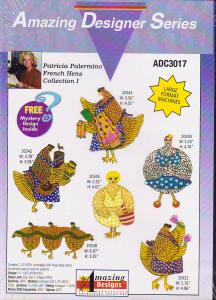 Amazing Designs ADC3017 Patricia Palermino French Hens Collection I Multi-Formatted CD