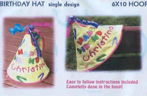 Smartneedle Designs 6 X 10 Happy Birthday Hat  Multi-Formatted CD