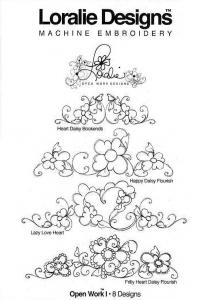 Loralie Designs 631570 Open Work I Embroidery Designs, 8 Designs