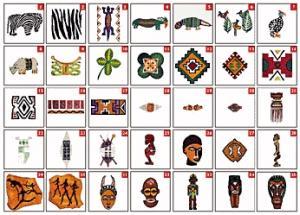 Husqvarna Viking No. 37 African Arts Embroidery Card