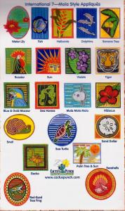 Cactus Punch IN07 International Mola Style Appliques CD
