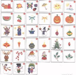 Husqvarna Viking No. 42 Happy Holidays by Patrick Lose Embroidery Card