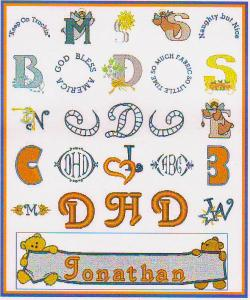 Down Home Dreams 1057 Alphabets & Monograms Collection CD