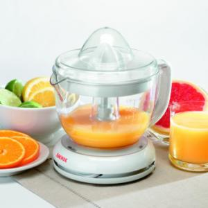 Aroma ACJ-181 1 Liter Citrus Juicer, 1 liter transparent juice cup, Starts and stops automatically, Includes citrus reamer of two sizes, Easy to clean