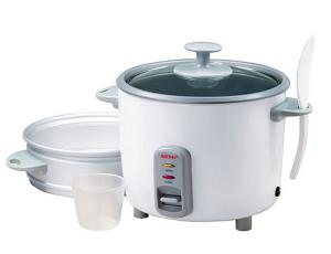 Aroma ARC-737G 7 Cup Aluminum Pot Style Cooker, 14 Cups Rice, Paddle, Cup, Glass Lid, Steams fish, meat, poultry or vegetables while cooking rice
