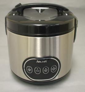 Aroma ARC-998 8 Cup Digital Programmable Rice Cooker (Stainless Steel) Yields 16 Cups of Cooked Rice, Stews, Soups, Fish, Meat, Poultry, Vegetables
