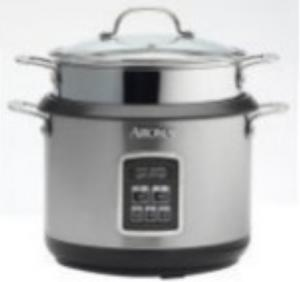 Aroma ARC-560 10 Cup Digital Gourmet Pasta and Rice Cooker (Stainless Steel), Glass Lid, Push Button Controls, LED Indicators