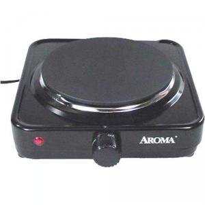 Aroma AHP-303 Single Range Hot Plate, Power Light, Die Cast Burner; High, medium, low and warm temperature settings, for dorms, offices, traveling