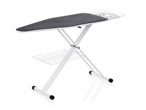 "Reliable, 200IB, C60, Large, Home Ironing Table, 19 x 47"", 30-38"" Height Adj, Garment Tray, Iron Rest, 21Lb, White Metal Finish, Replaces C55, ITALY"