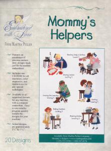 Martha, Pullen, Mommy's, Helpers, Multi, Formatted, Embroidery, Designs, CD, 20, 3, 3/4