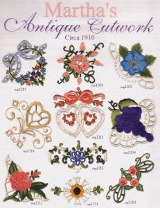 Martha Pullens Antique Cutwork Embroidery Designs Multi-Formatted CD