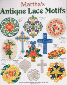 Martha Pullens Antique Lace Motifs Embroidery Designs Multi-Format CD