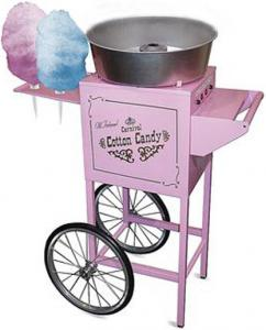 "Nostalgia Electrics CCM600 Commercial Cotton Candy Machine CCM600 on Wheels, 34x 21x50"" 6 Cone Rack, 4´ Tall, Designed from 1900´s Carnival Circus Eranohtin"