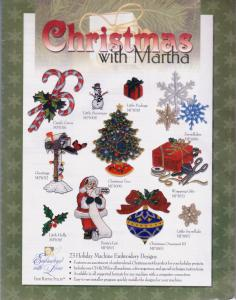 Martha Pullens Christmas with Martha Embroidery Designs Multi-Format CD