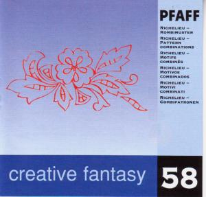 Pfaff No. 58 Richelieu- Pattern Combinations Embroidery Card