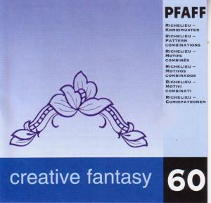 Pfaff No. 60 Richelieu- Pattern Combinations Embroidery Card
