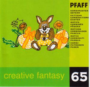 Pfaff No. 65  Pattern Combinations Easter Embroidery Card