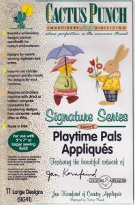 Cactus Punch SIG91 Playtime Pals Appliques Multi-Formatted CD