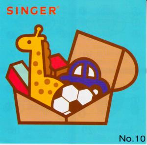 Singer No. 10 Toy Box Designs Embroidery Card for XL100, XL150 & XL1000 Embroidery Machines - REDUCED $50