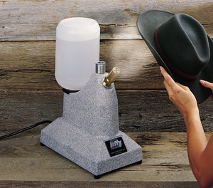 "Jiffy, J-1, Original Hat, and Cap, Steamer, with 2.5"", Short Metal, Steam Nozzel, on Wood Handle, 1300 Watts, J1, Made in USA, Helps Block, Clean, Freshen, Remove Odors, & Wrinkles, 2 Minute Heat Up"