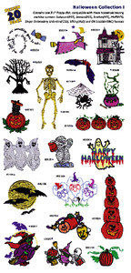 Geat Notions 1043 Halloween I  Embroidery Multi-Formatted CD