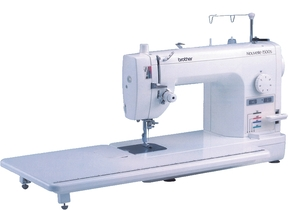 "Brother, Designio Series, DZ1500F, PQ1500s, pq1500sl, pq1500slprw, PQ-1500S, PQ1500, ta637, ta639, babylock, Quilters Choice Pro, Baby Lock Jane, BL500A, Nouvelle , Babylock Quilter's Choice Professional, Babylock Jane, BLQP, BLQP, babylock Quilters Choice Pro, babylock BLQP, Quilters Choice Pro BLQP,  Choice Pro BLQP,Brother PQ1500S 9"" Arm, 7mm Straight Stitch Sewing Quilting Machine PinFeed NeedleUpDown Threader Trimmers KneeLift DropFeed WalkFoot 11x23""Table 25Yr"