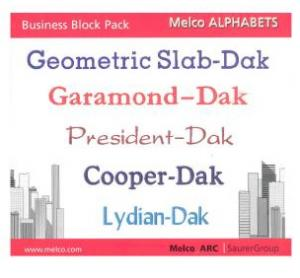 Melco edsIII-IV Alphabets Business Block Pack 16622