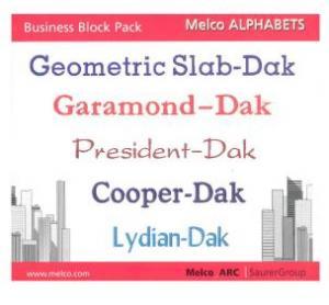 Melco edsIII-IV Alphabets Business Block Pack 16622