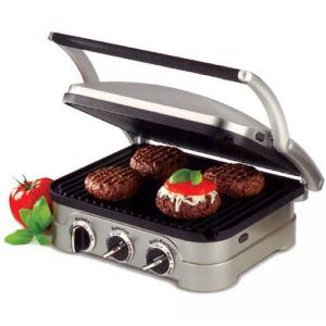 Cuisinart CUIGR4N Griddler Stainless Steel Grill, Griddle, Panini Press, Contact grill