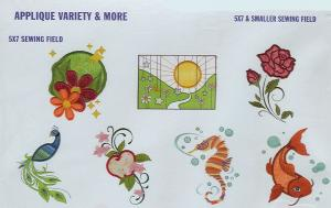 Dakota Collectibles 970341 Applique Variety & More Large and Small Designs  Multi-Formtted CD