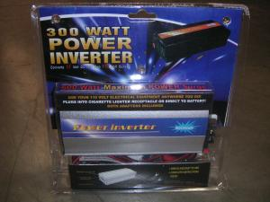 CHT300W 300W Power Inverter Converts 12 Volt DC into Two 110 Volt Outlets