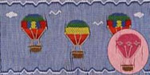 Ellen McCarn Amanda's Dream Smocking Plate Hot Air Balloon