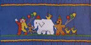 Ellen McCarn Annie's Circus Parade Smocking Plate